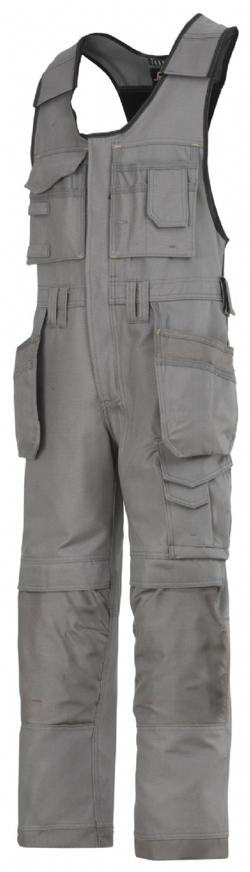 Snickers 0214 Canvas+ Craftsmen One-Piece Holster Pocket Trousers (Grey)